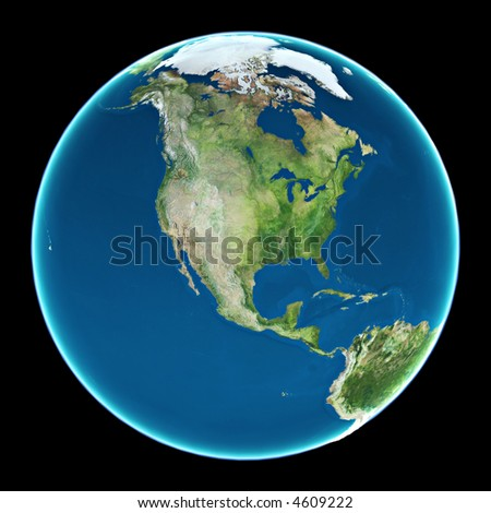 USA view from space