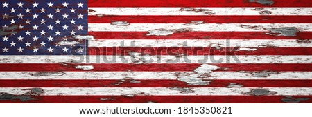 usa vintage flag in rusty metal painting 3d illustration  Photo stock ©