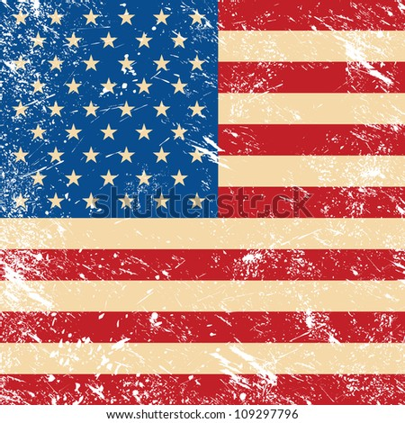 USA vintage grunge flag - stock photo