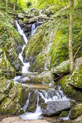 USA, Virginia, Shenandoah National Park, Dark Hollow Falls