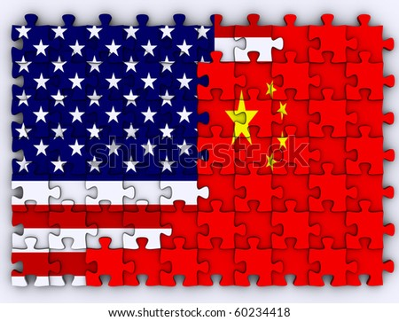 USA Vs. China - stock photo