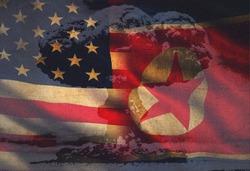 USA vs. North Korea - graphic concept