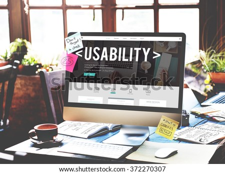Usability Capability Purpose Quality Usefulness Concept - Shutterstock ID 372270307