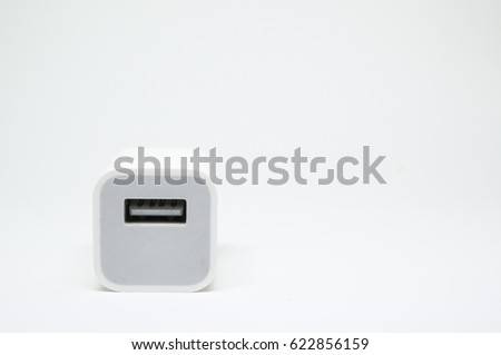 Usb charger plug isolated on a white background #622856159