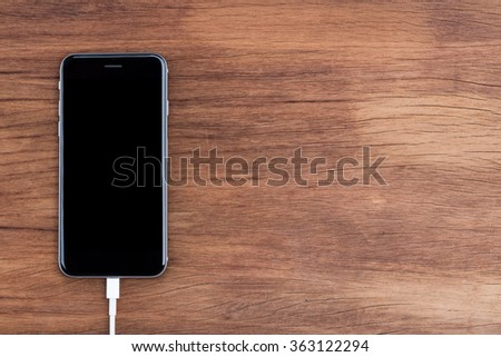 usb data connect to phone on top view