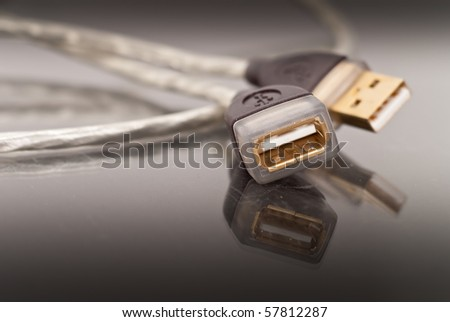 USB Female Plug In Close Up
