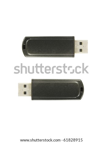 Usb flash drive isolated on white