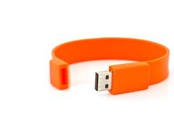 USB Flash Drive isolated on white background