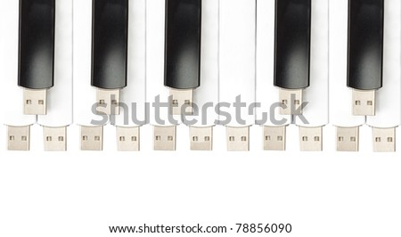 USB flash memory combined in the form of piano keys #78856090