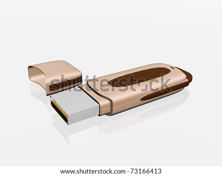 Usb flash memory isolated on the white background