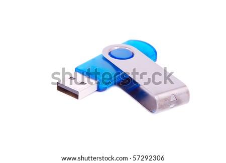 Usb flash memory, isolated on white background