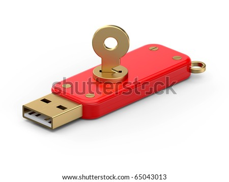 Usb flash nenoru with security key