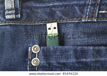 Usb key in the pant