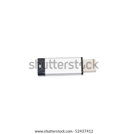 USB memory stick isolated on white background