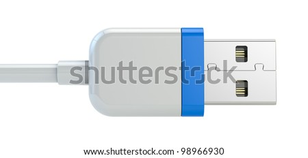 usb plug isolated on white