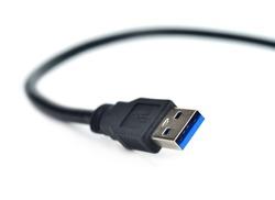 USB plug isolated on white background