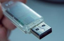 USB Stick - Flash memory stick in a close up shot