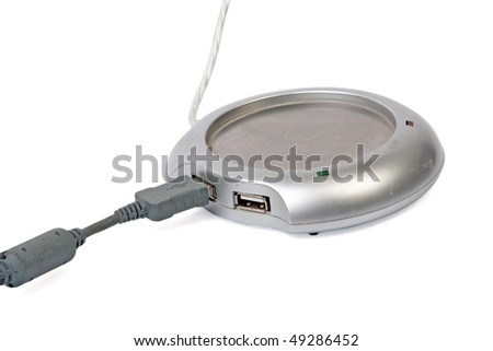 USB warmer for cup with clipping path