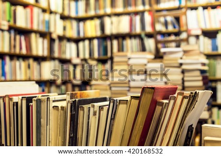used books in the bookstore