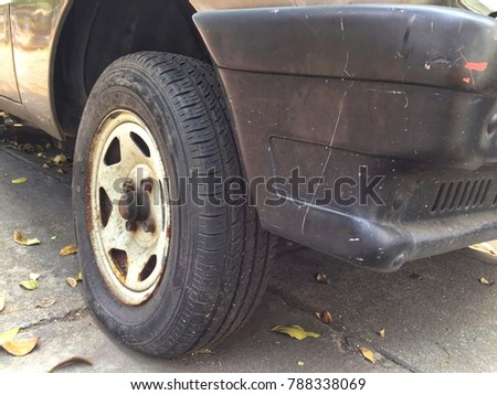 Used car with used wheel and bumper #788338069