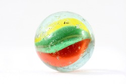 used colorful marble, isolated on white
