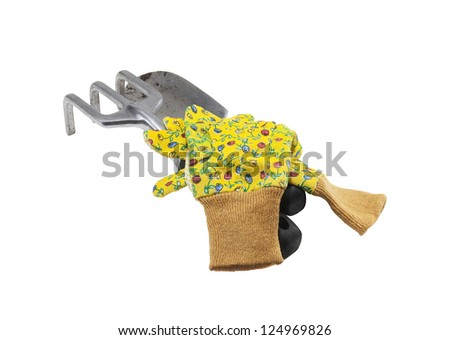 used garden tools for planting in the garden