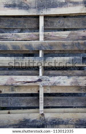 Used pallet closeup