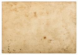 Used paper sheet. Old cardboard isolated on white background