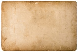 Used photo cardboard texture. Scrapbook object. Old paper sheet with edges. Vintage style toned with vignette