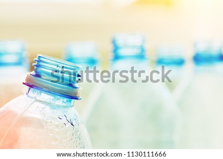 used plastic bottles, recycling concept, environment care