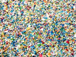 Used plastic crushed, Prepared to be re-melted into recycled plastic pellets