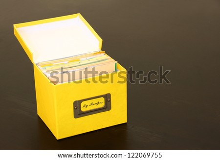 used recipe box - stock photo