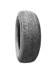 Used Tire isolated on white background (old)