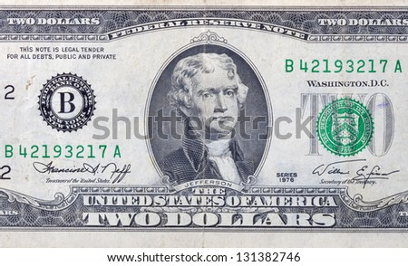 used two dollars bill macro
