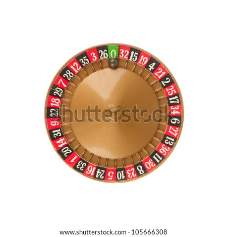 Used very old game, roulette wheel and ball