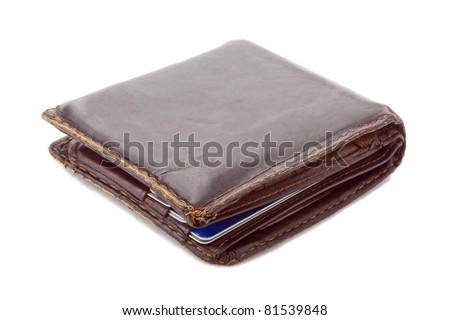 used wallet with credit cards inside