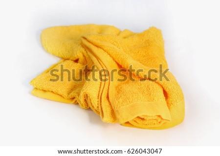 Used yellow rag.