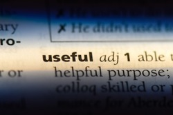 useful word in a dictionary. useful concept.