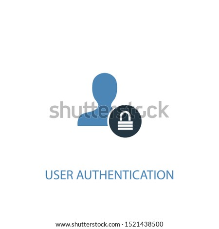 User Authentication concept 2 colored icon. Simple blue element illustration. User Authentication concept symbol design. Can be used for web and mobile UI/UX