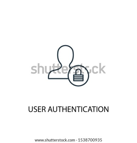 User Authentication concept line icon. Simple element illustration. User Authentication concept outline symbol design. Can be used for web and mobile UI/UX