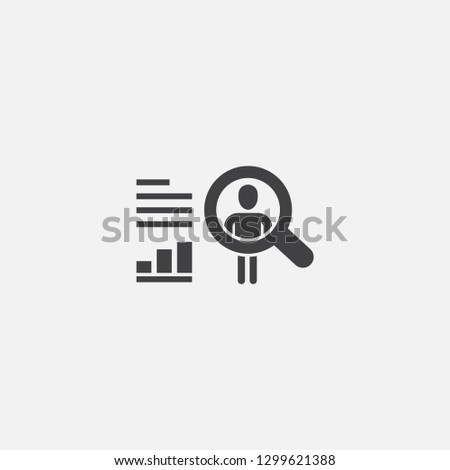 User behavior base icon. Simple sign illustration. User behavior symbol design from big data, database series. Can be used for web, print and mobile