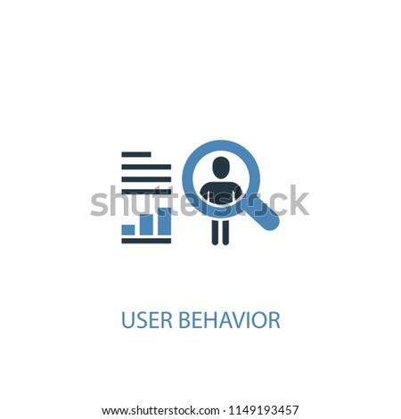 User behavior concept 2 colored icon. Simple blue element illustration. User behavior concept symbol design from big data set. Can be used for web and mobile UI/UX