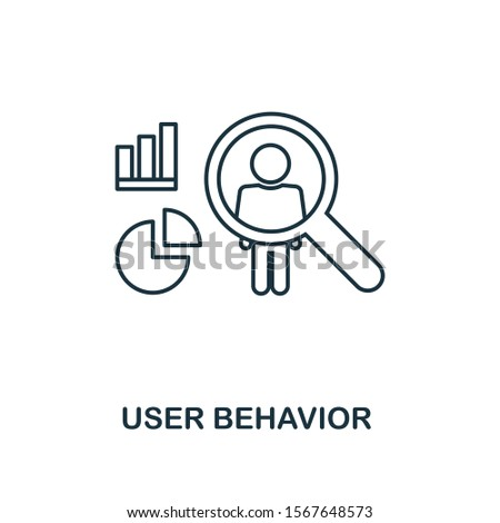 User Behavior outline icon. Thin line style from big data icons collection. Pixel perfect simple element user behavior icon for web design, apps, software, print usage.
