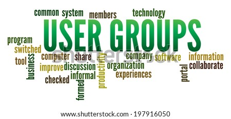User Groups in word collage
