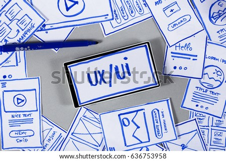 User interface design, paper prototyping, building wireframe for mobile website #636753958