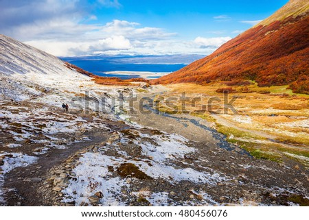 Shutterstock Ushuaia aerial view from the Martial Glacier. Ushuaia is the main city of Tierra del Fuego in Argentina.