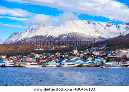 Shutterstock Ushuaia aerial view. Ushuaia is the capital of Tierra del Fuego province in Argentina.