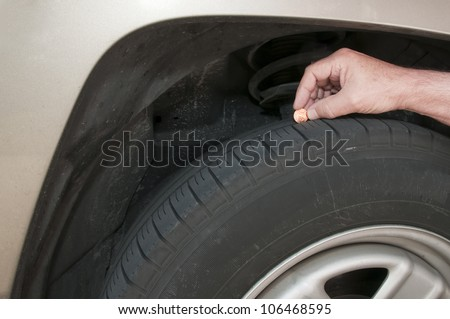Measure Tire Tread With Penny >> Using A Lincoln Head Penny To Measure Tire Tread Depth For Safety Lincolns Head Is Completely ...