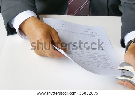 Using a stapler for documents