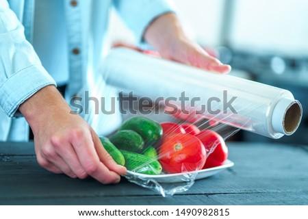 Using food film for food storage in fridge